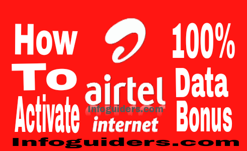 How to activate Airtel 100% data bonus