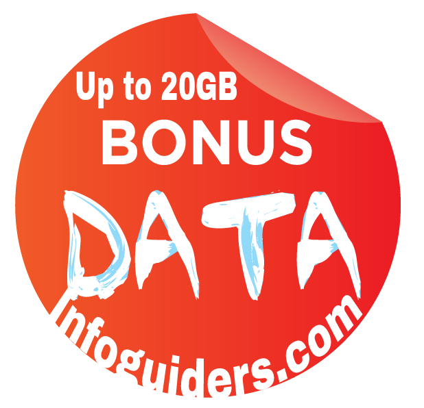 Get 5GB, 10GB, 20GB free data bonus