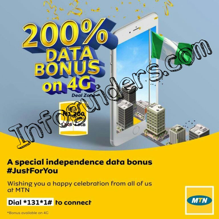 MTN Free data bonus Nigeria Independence day