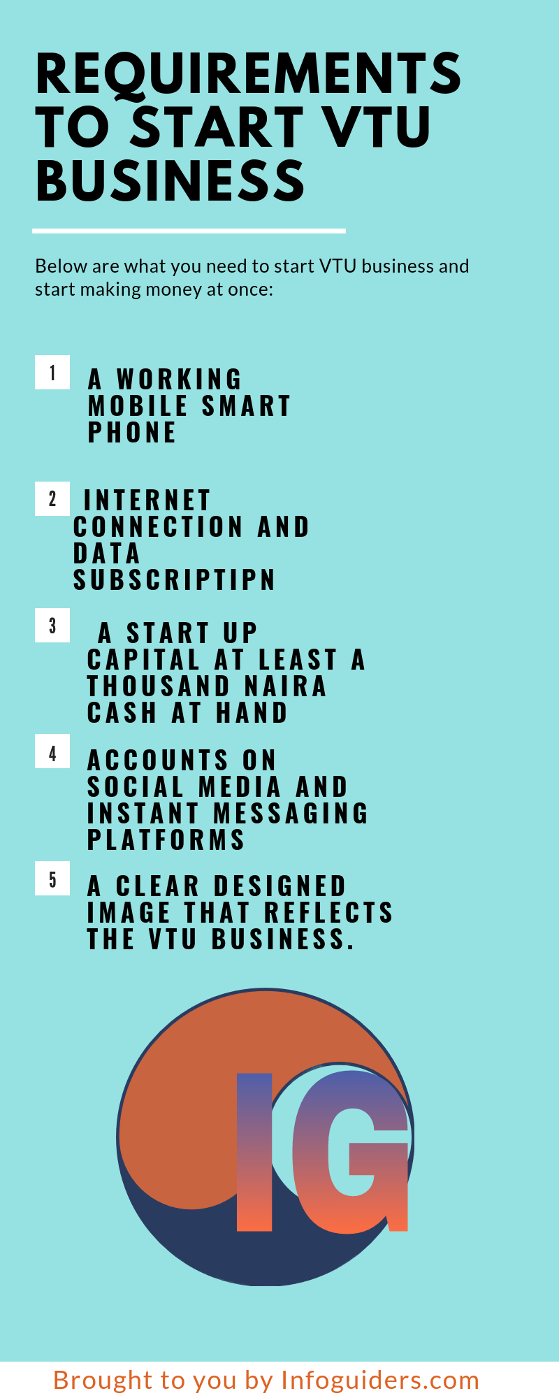 Requirements to start vtu business