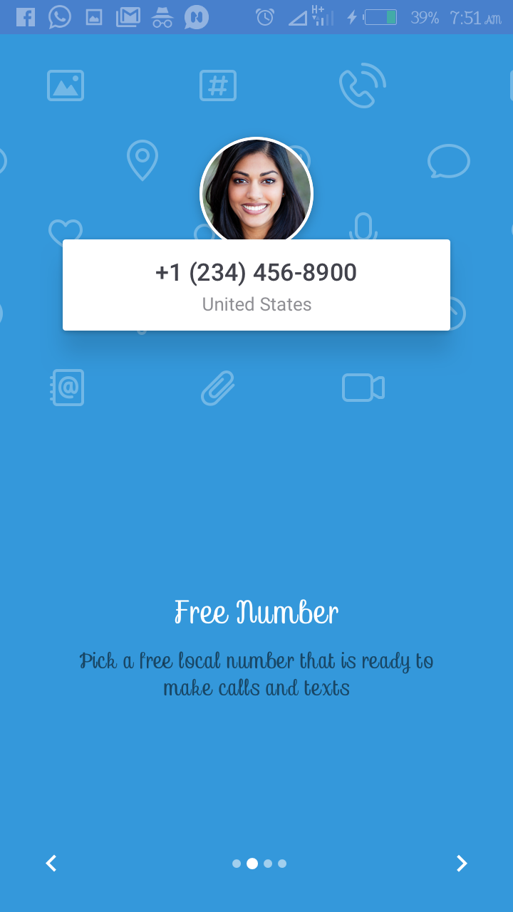 TextMe App Get free number and make free calls