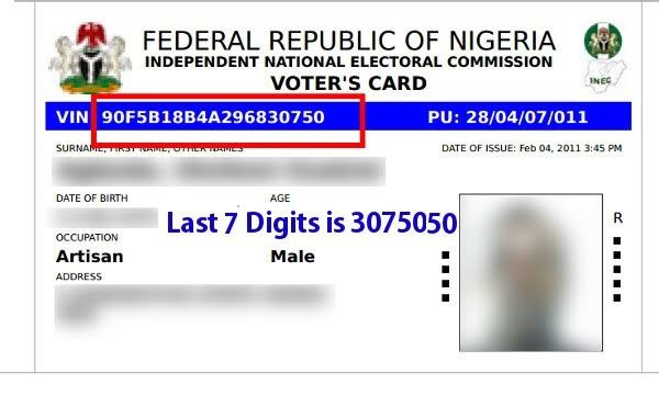 INEC Voters Identification Number