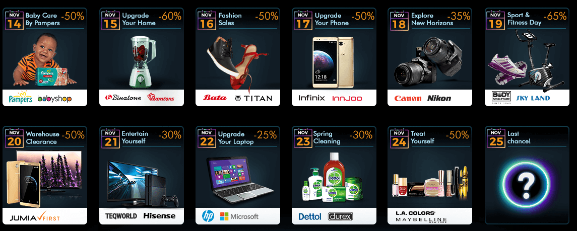 Jumia Black Friday 2018 Deals and Offers