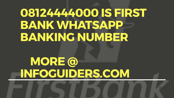 first bank chat banking number