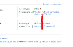 "Firstly open your Control Pannel, click on ""View Network Status and Task"" > Then click on Active Network"
