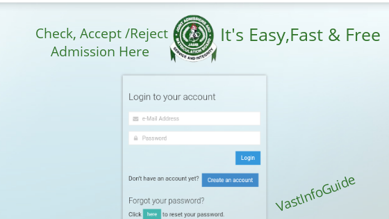 Accept Or Reject Admission Offer On CAPS