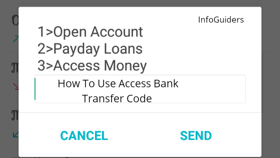 How To Use Access Bank Transfer Code