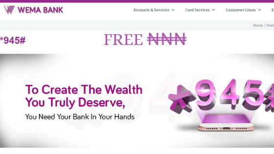 Wema Bank Transfer Code