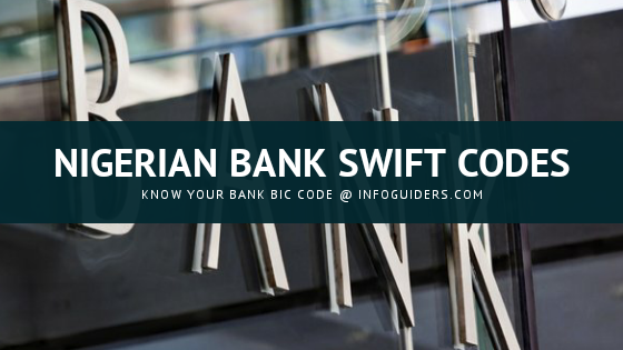 All Nigerian Banks Swift Codes