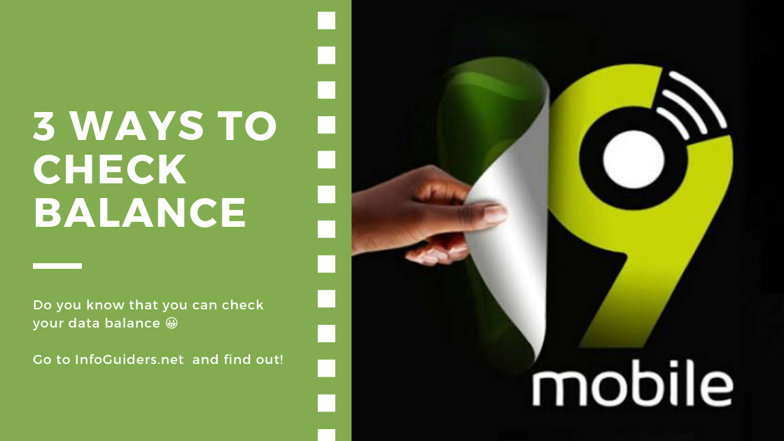 3 Ways To Check Balance On 9mobile