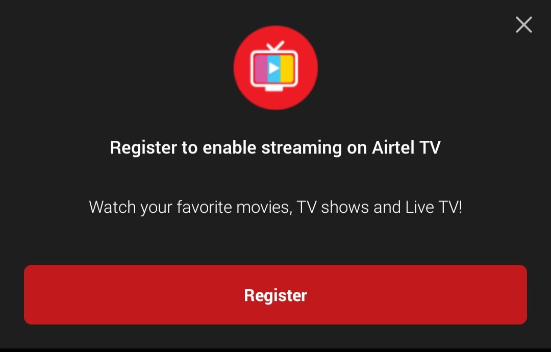 How To Register Airtel TV