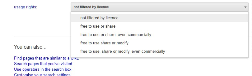 Google Advance Search For Creative Commons Content