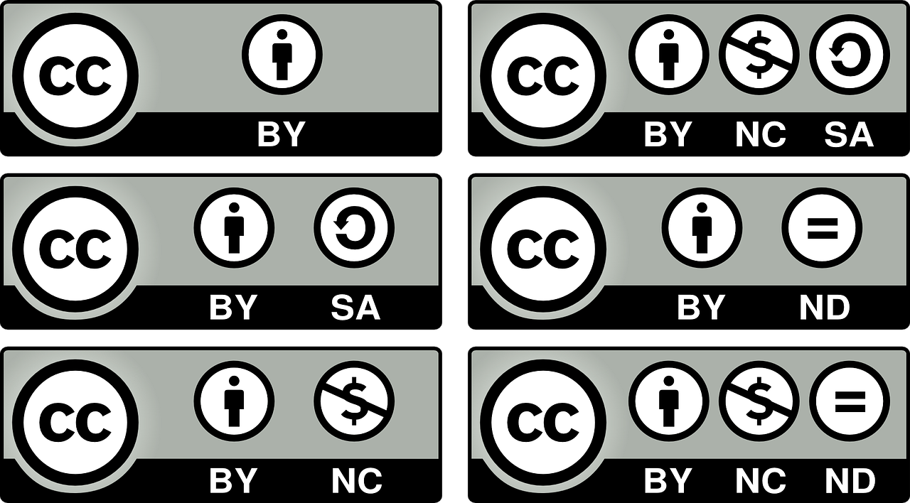 Six Types Of Creative commons License