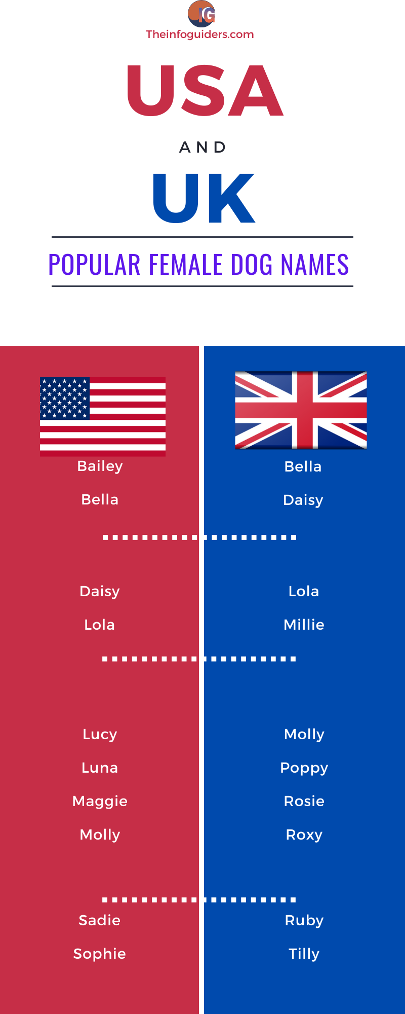 USA and UK Popular Female Dog Names