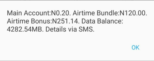 GET 4GB + N120 AIRTIME FOR N100 ON MTN - Balance