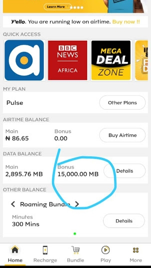 Accumulate 40GB on MTN