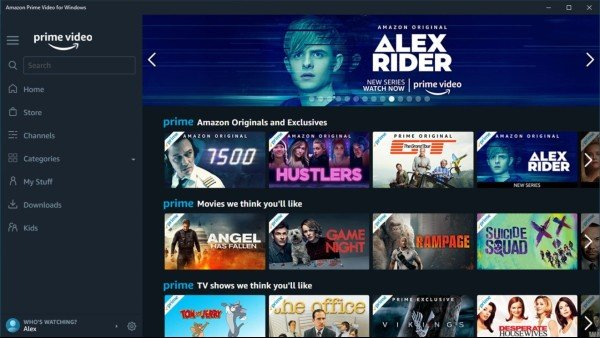 Amazon Prime Video App For Windows 10