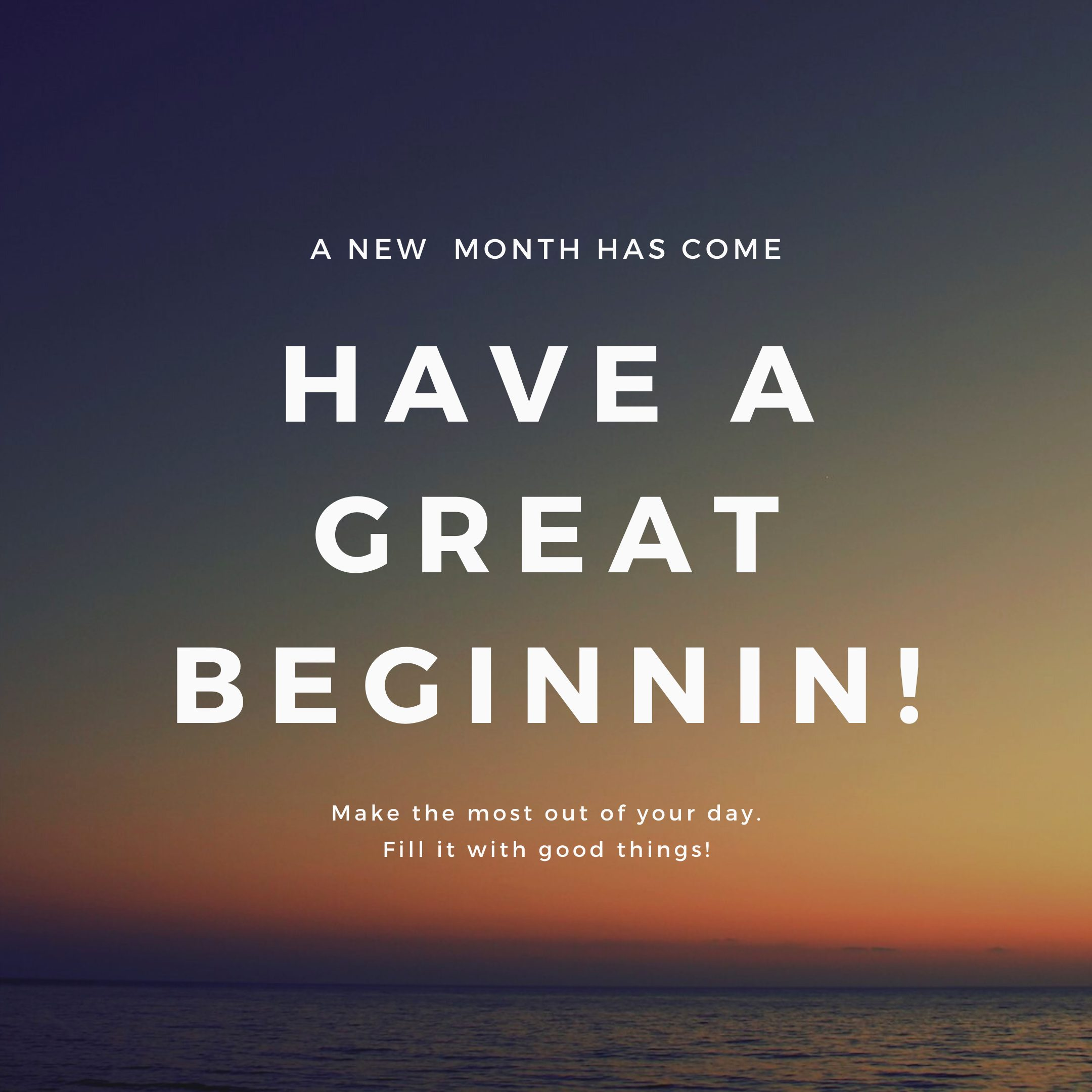 New month Quote Instagram Post