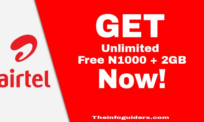 GET Free N1000 2GB on Airtel Network