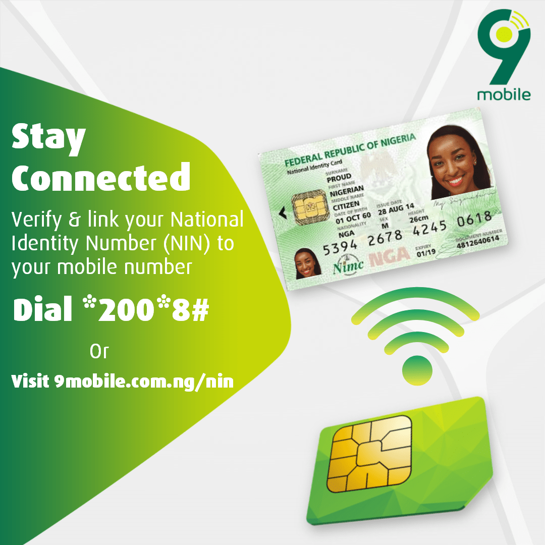 How to Register Your NIN To Your 9mobile Number