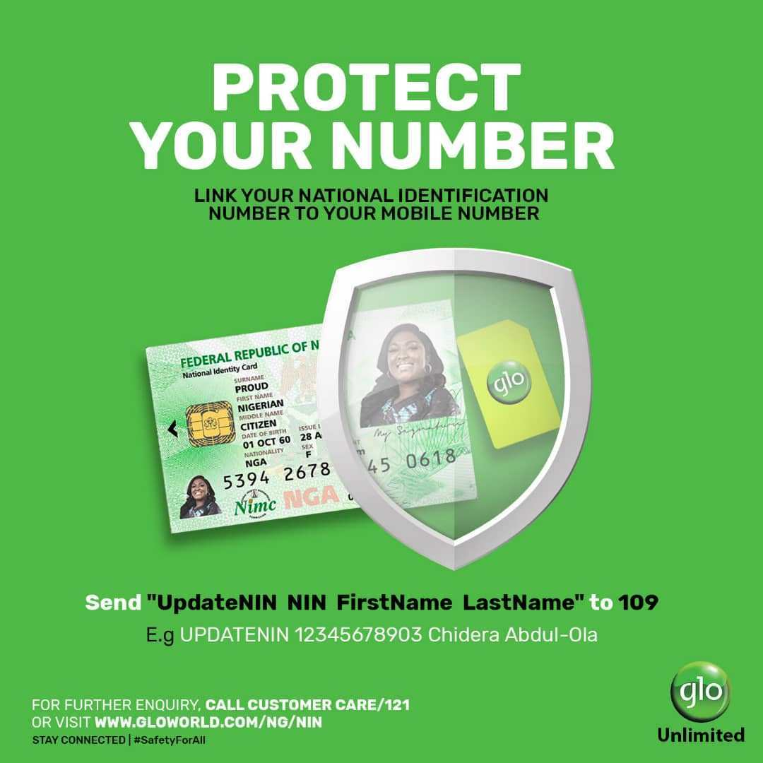 How to Register Your NIN To Your Glo Number